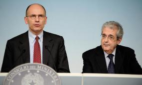 Enrico Letta e Fabrizio Saccomanni
